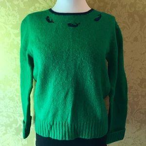 Vintage Wool Preppy Whale Sweater